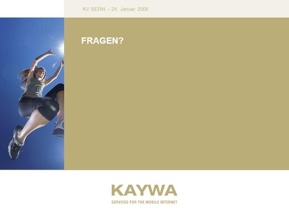 KV BERN – 24. Januar 2006 FRAGEN