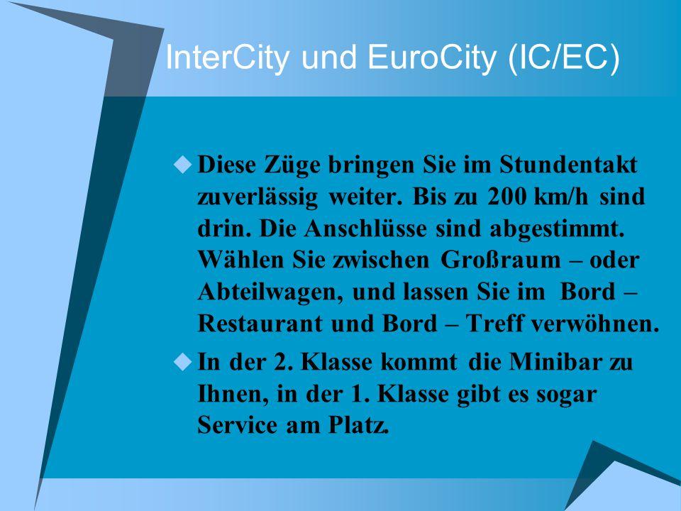 InterCityNight (ICN) Über Nacht von Berlin nach München oder Bonn – und umgekehrt.