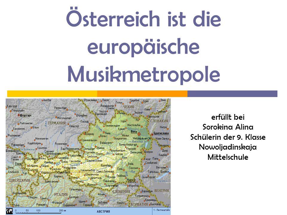 Die Grundfrage Warum war Österreich die europäische Kulturmetropole in 18-19 Jahrhunderts?