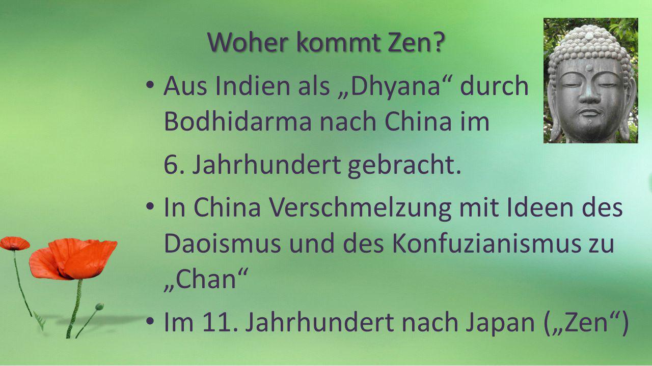 Literatur Nishijama, Gudo Wafu (2005): Die Schatzkammer der wahren buddhistischen Weisheit, Frankfurt: Fischer Mohr Günther (2014): Achtsamkeitscoaching, Bergisch-Gladbach: Edition Humanistische Psychologie Reps, Paul (1977): Ohne Worte – ohne Schweigen, Bern u.a.: Scherz Shah, Idries (1982): Das Geheimnis der Derwische.