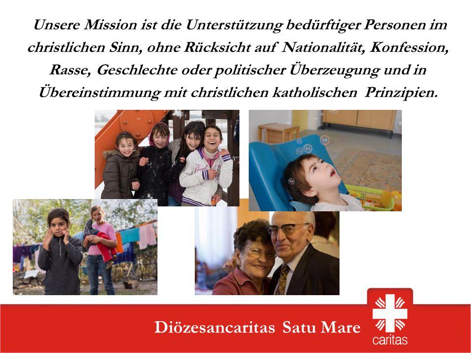 Szatmárnémeti Caritas Szervezet Diözesancaritas Satu Mare Aktivitätenbereiche: Sozial-erzieherische Programme für Kinder und Jugendliche Programme für Personen mit Behinderung Programme für Senioren Hilfs- und Interventionsprogramme