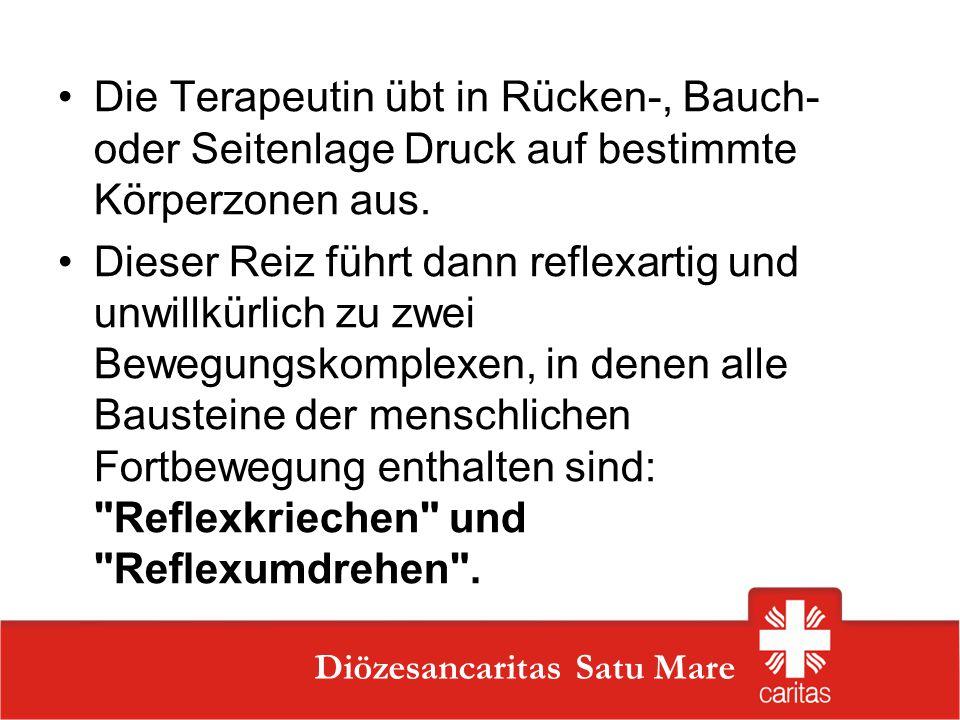 Szatmárnémeti Caritas Szervezet Diözesancaritas Satu Mare Die Terapeutin übt in Rücken-, Bauch- oder Seitenlage Druck auf bestimmte Körperzonen aus. D