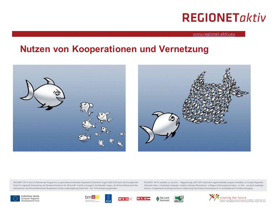 www.industrieviertel.at www.regionet-aktiv.eu Nutzen von Kooperationen und Vernetzung