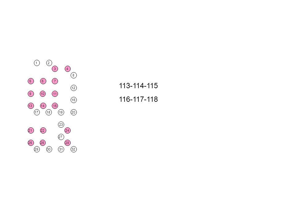 26 14 22 10 6 15 11 7 3 25 21 9 13 28 24 4 5 18 30 2 19 27 23 31 17 1 29 20 12 8 16 32 113-114-115 116-117-118