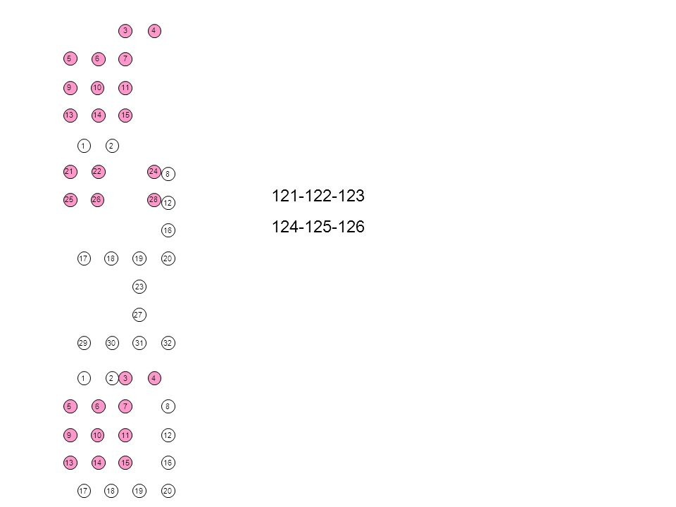 18 30 2 19 27 23 31 17 1 29 20 12 8 16 32 18 30 2 19 27 23 31 17 1 29 20 12 8 16 32 26 14 22 10 6 15 11 7 3 25 21 9 13 28 24 4 5 26 14 22 10 6 15 11 7 3 25 21 9 13 28 24 4 5 121-122-123 124-125-126