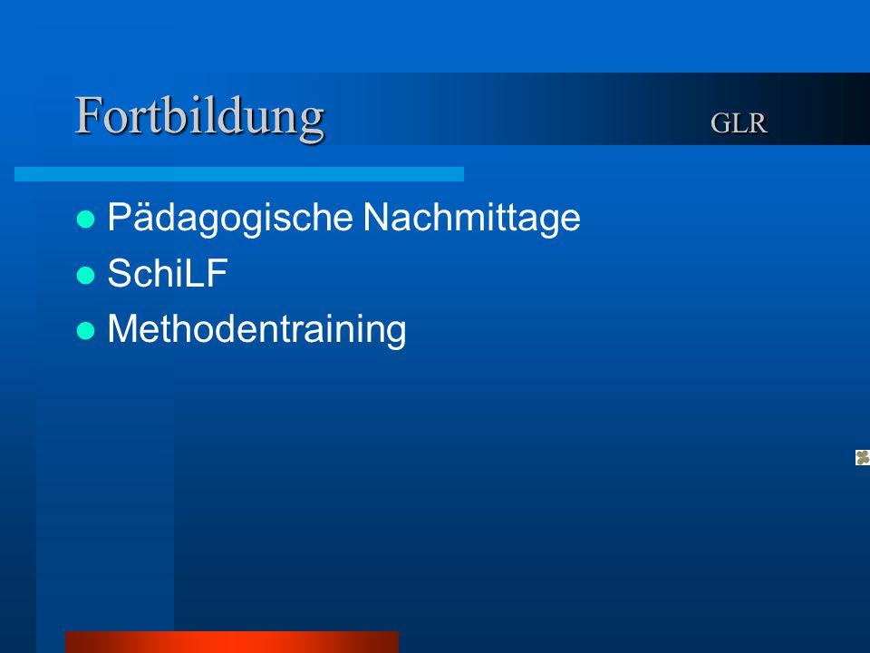 Fortbildung GLR Pädagogische Nachmittage SchiLF Methodentraining