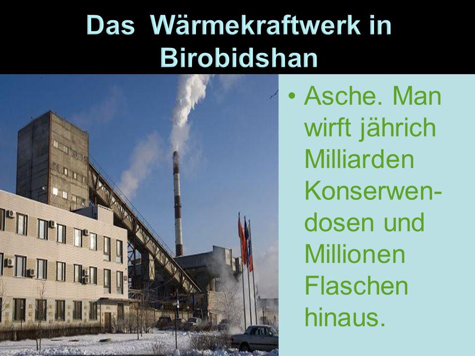 Die Luft wird durch die Industriebe- triebe verschmutzt