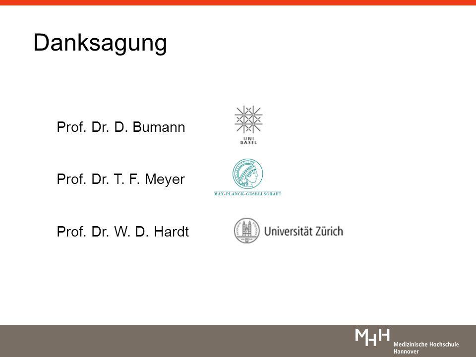 Danksagung Prof. Dr. D. Bumann Prof. Dr. T. F. Meyer Prof. Dr. W. D. Hardt