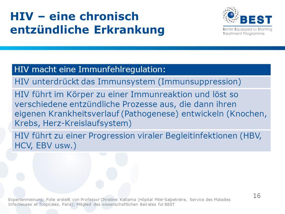 16 HIV macht eine Immunfehlregulation: HIV unterdrückt das Immunsystem (Immunsuppression) HIV führt im Körper zu einer Immunreaktion und löst so versc