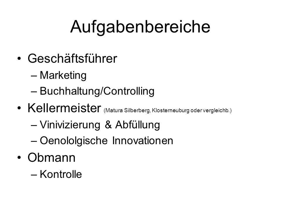 Kundenstruktur 1.Qualität Platin Regionale Top-Gastronomie, Vinotheken, ab Hof 2.