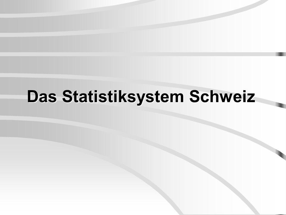 Das Statistiksystem Schweiz