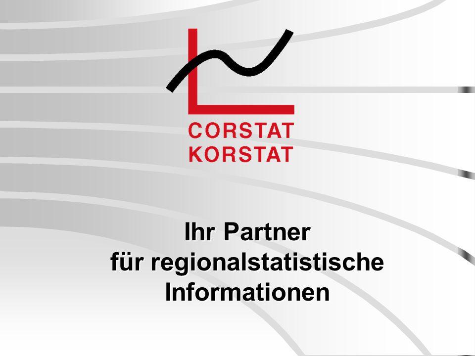 Ihr Partner für regionalstatistische Informationen