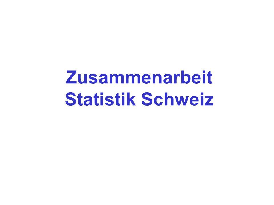 Zusammenarbeit Statistik Schweiz