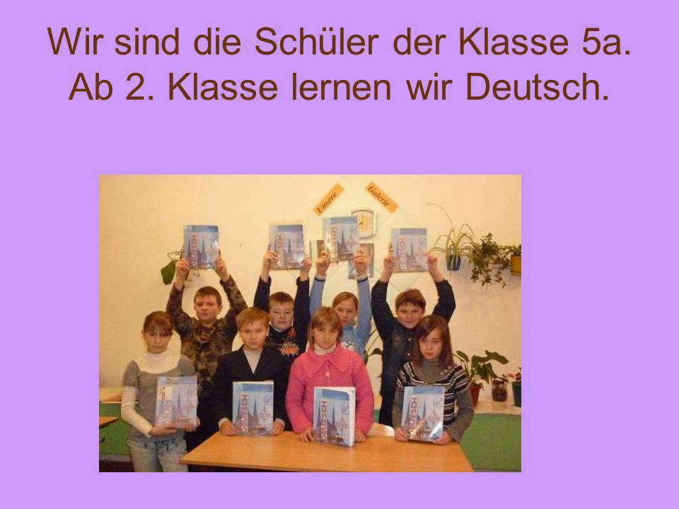 In der Deutschstunde erfahren wir viel Neues und Interessantes.
