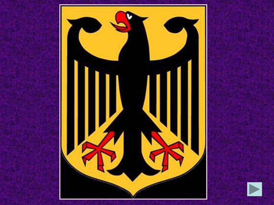 Das Bundeswappen zeigt einen Adler einen Drachen einen Löwen