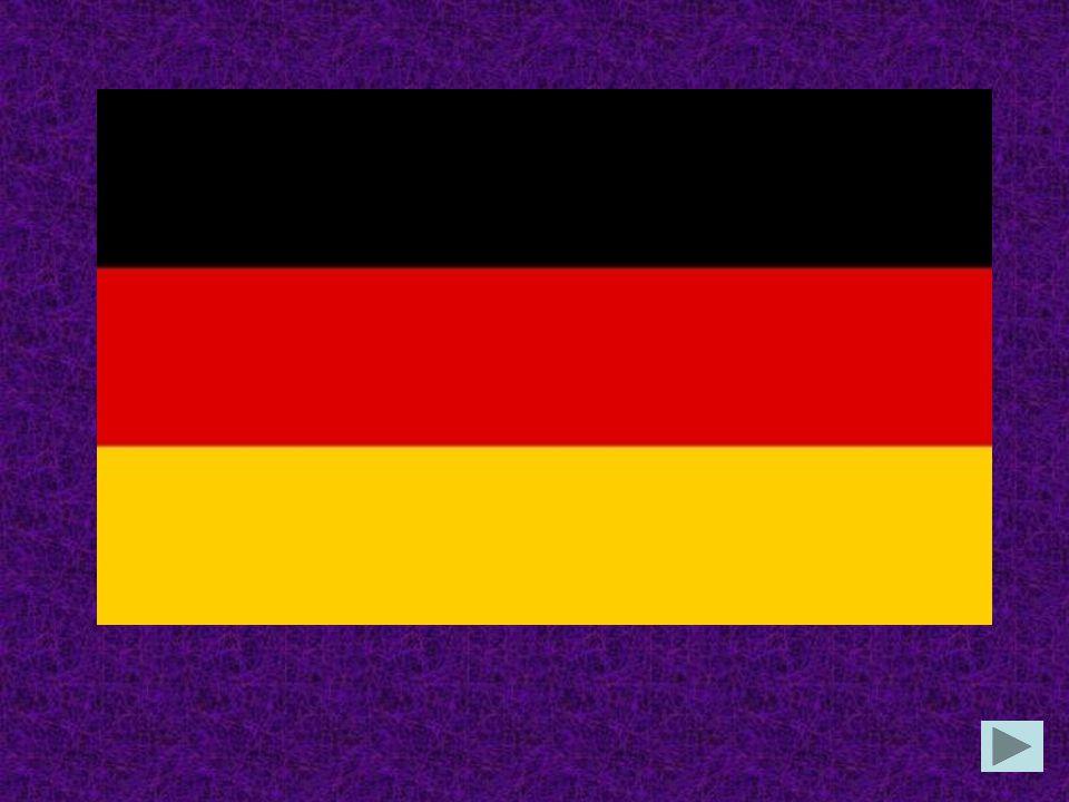 Die deutsche Flagge hat die Farben in der Reihenfolge von oben schwarz, rot, gold rot, schwarz, gold gold, schwarz, rot