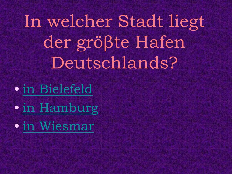 Deutschland - Quiz