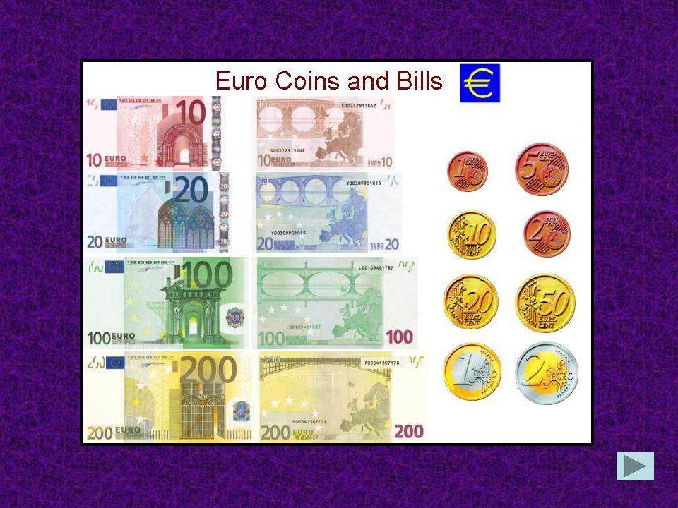 Wie heiβt das deutsche Geld? Euro Mark Dollar