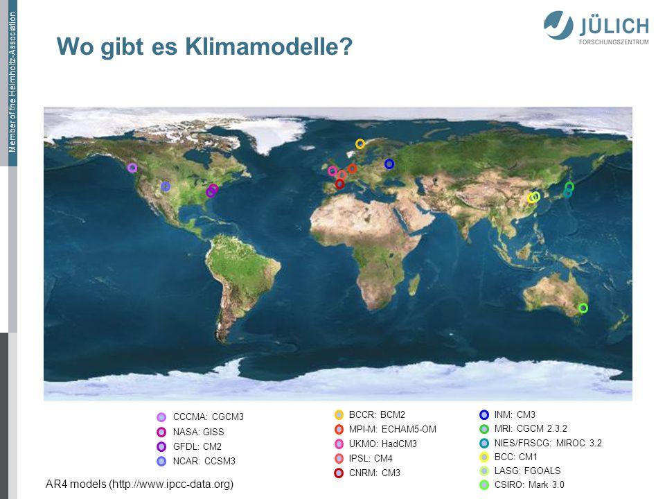 Member of the Helmholtz-Association Wo gibt es Klimamodelle.
