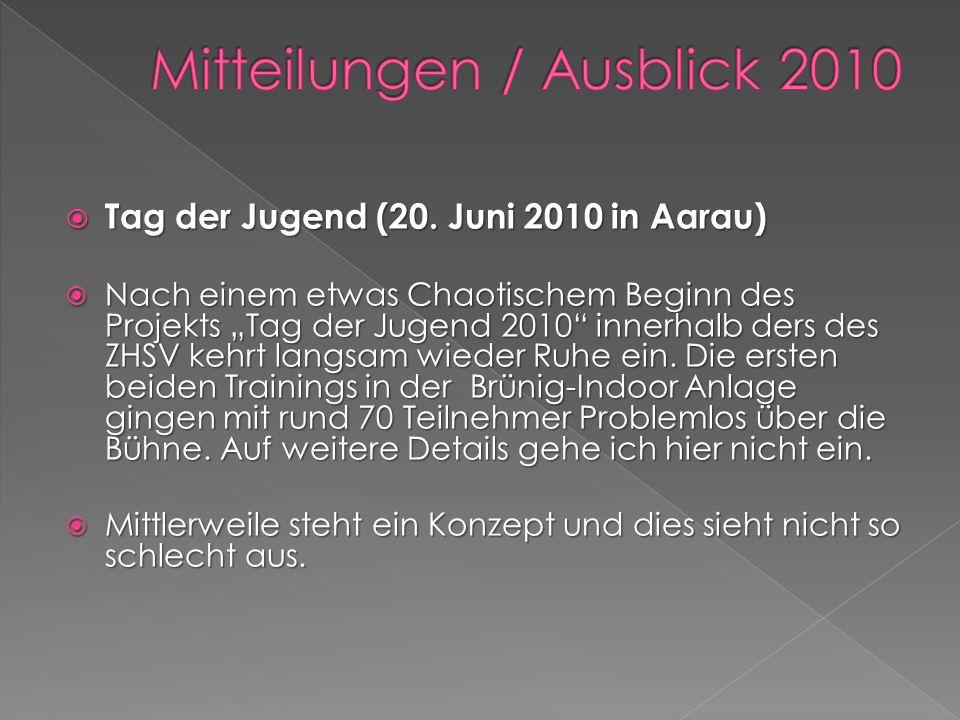 Tag der Jugend (20. Juni 2010 in Aarau) Tag der Jugend (20. Juni 2010 in Aarau) Nach einem etwas Chaotischem Beginn des Projekts Tag der Jugend 2010 i