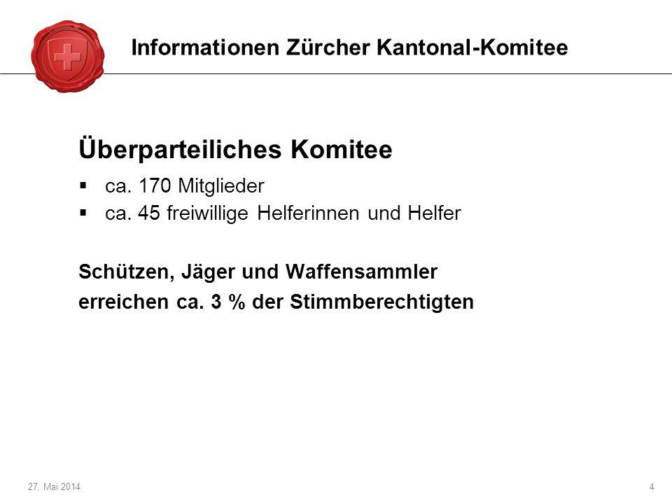 27.Mai 20144 Überparteiliches Komitee ca. 170 Mitglieder ca.