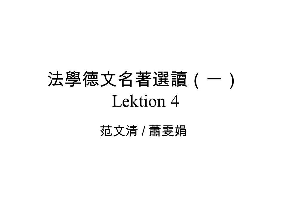 Lektion 4 /