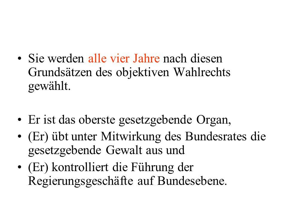 Dem Parlament ist er nicht verantwortlich, doch haben sowohl Bundestag als auch Bundesregierung die Möglichkeit, das Bundesverfassungsgericht anzurufen, wenn er seine verfassungsrechtlichen Pflichten verletzt oder seine Befugnisse überschreitet.