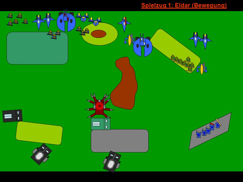 v Spielzug 1: Eldar (Bewegung)