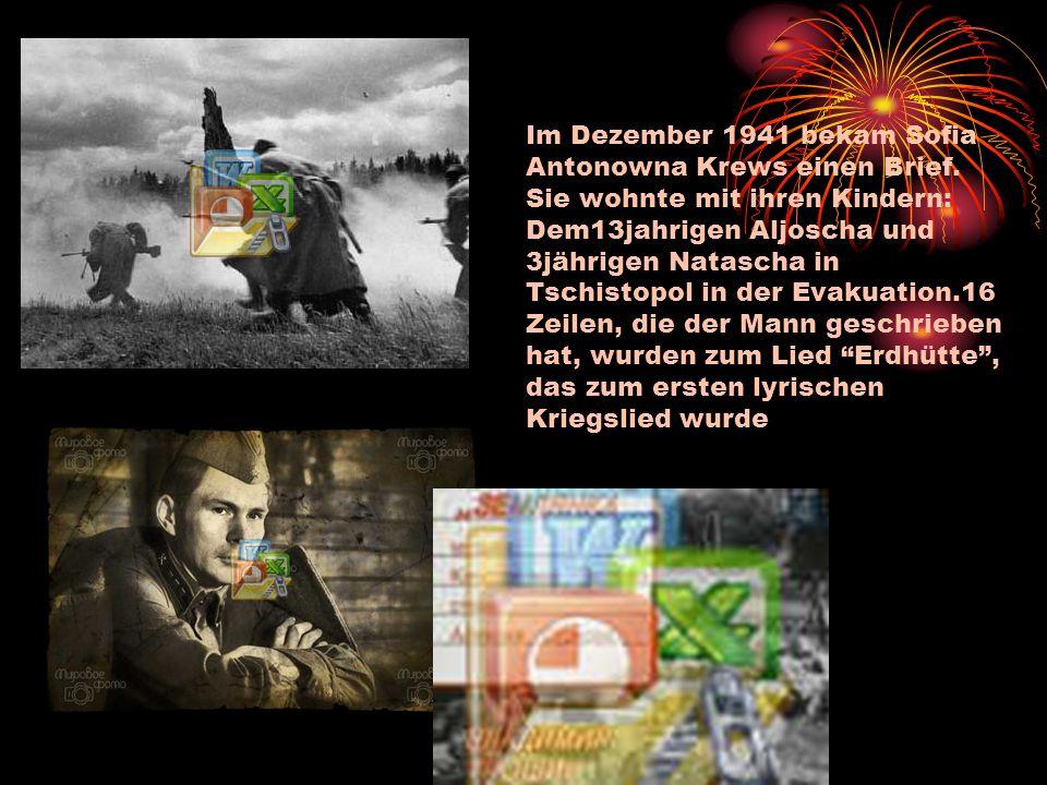 Im Dezember 1941 bekam Sofia Antonowna Krews einen Brief.