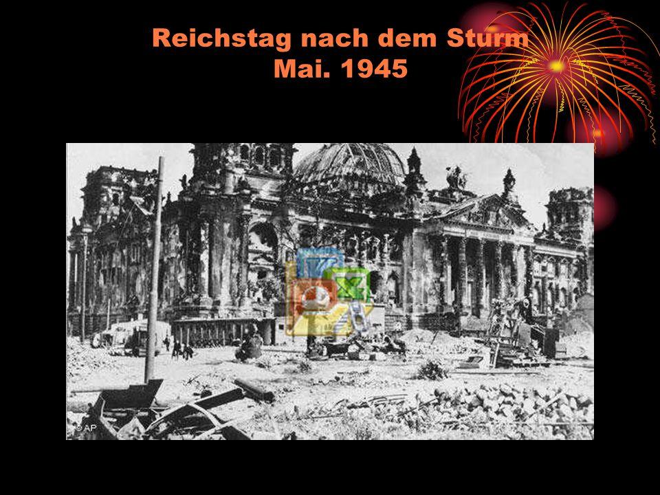 Reichstag nach dem Sturm Mai. 1945
