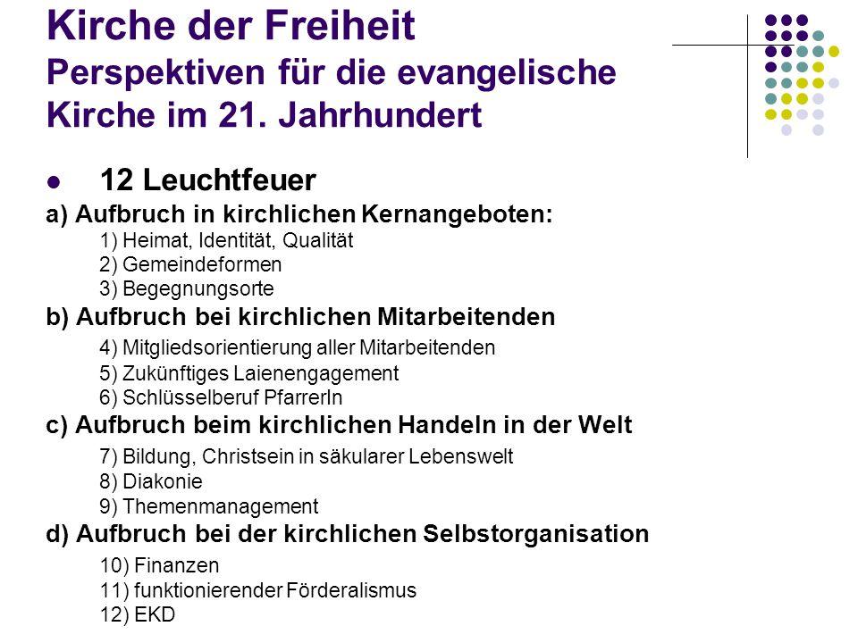 Kirche der Freiheit Perspektiven für die evangelische Kirche im 21.