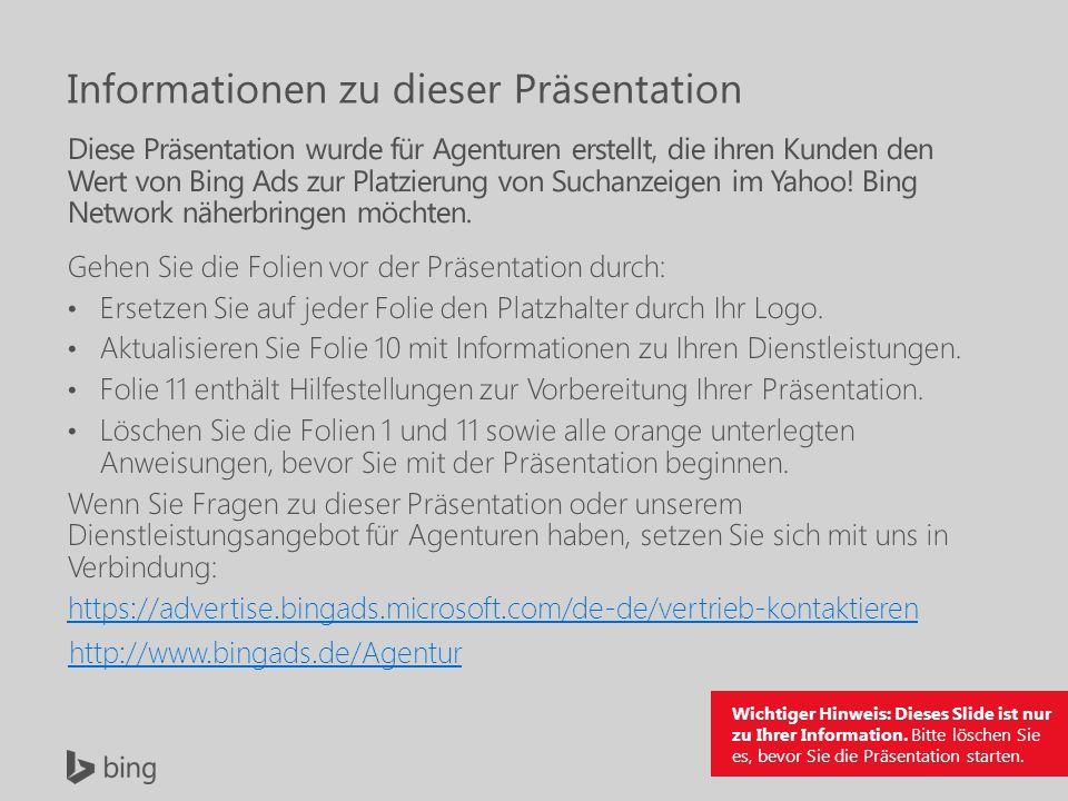 Wichtiger Hinweis: Dieses Slide ist nur zu Ihrer Information.