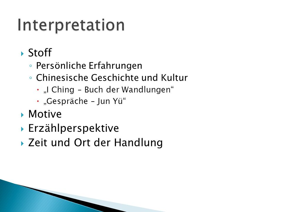 Hochdeutsch Als ob Briefe übersetzt wären: Bayern = Ba-yan Auto = A-tao …es folgt eine Kurze Leseprobe