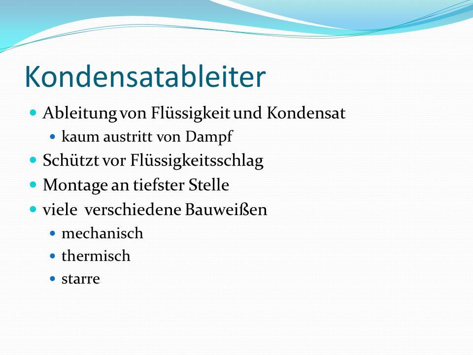 Mechanische Kondensatableiter Schwimmer-Kondensatableiter Starre Kondensatableiter Düsen-Kondensatableiter