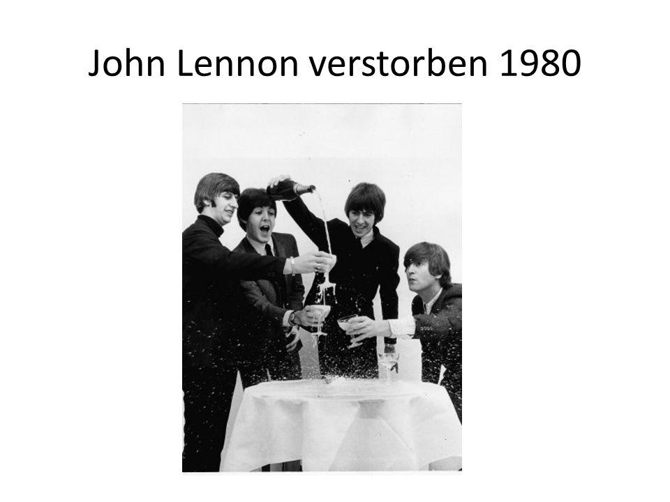 John Lennon verstorben 1980