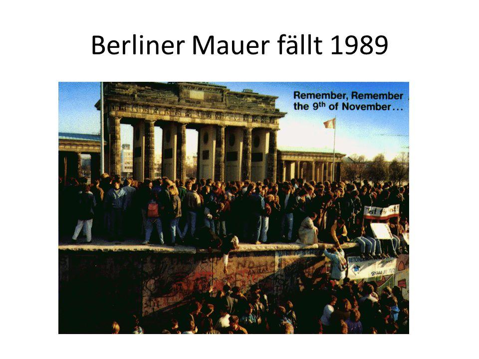 Berliner Mauer fällt 1989