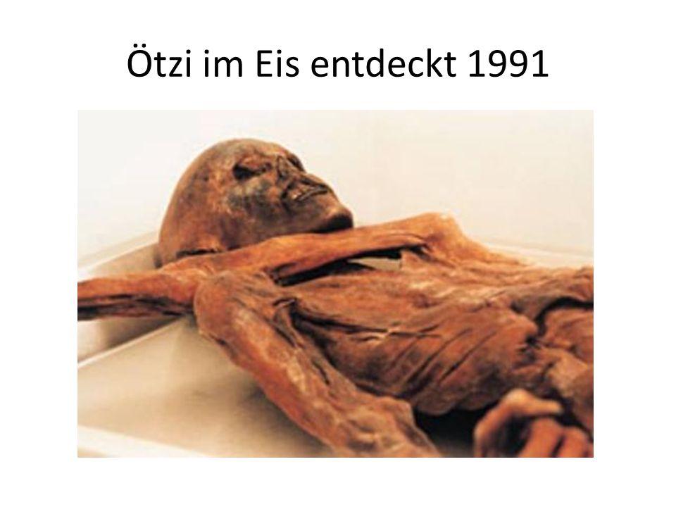 Ötzi im Eis entdeckt 1991