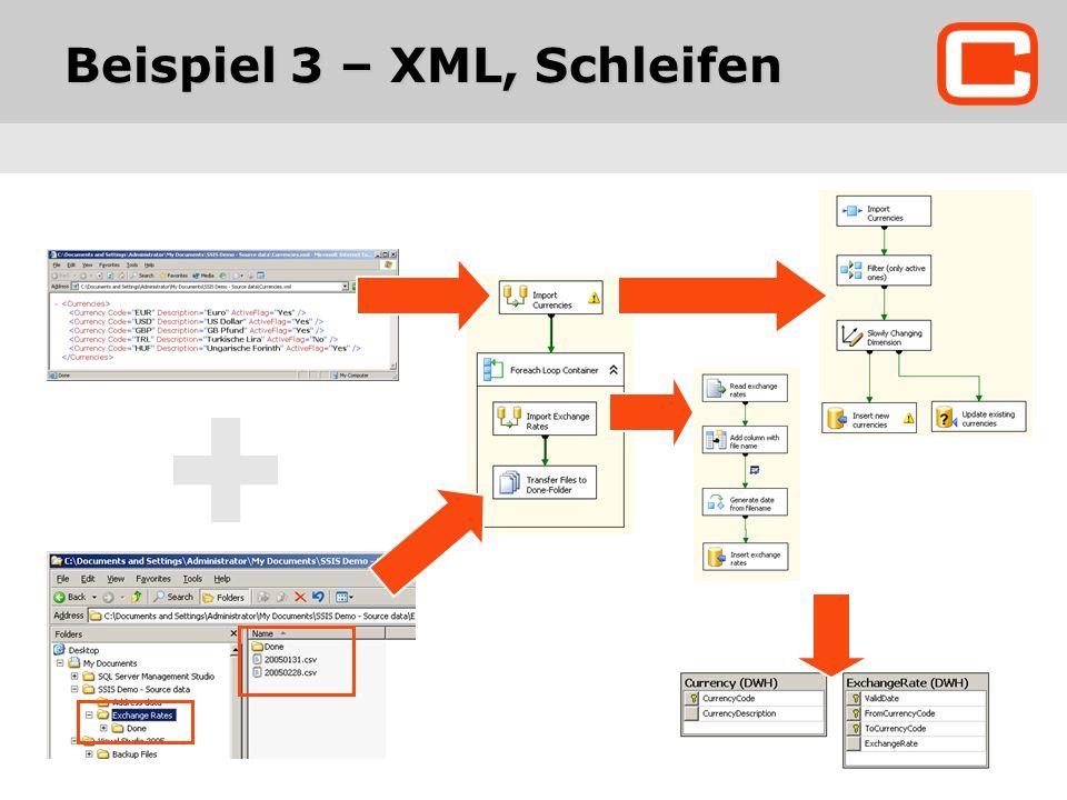 Beispiel 3 – XML, Schleifen
