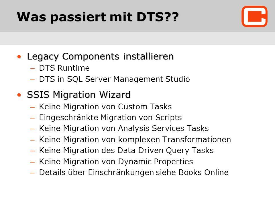 Was passiert mit DTS .