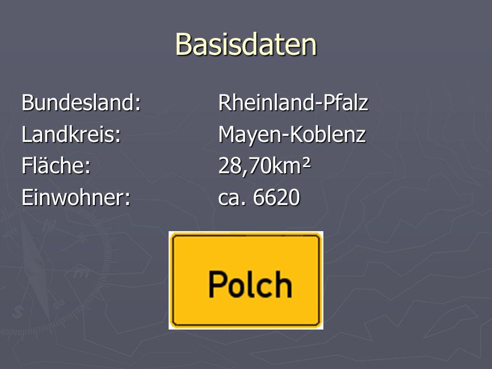 Basisdaten Bundesland:Rheinland-Pfalz Landkreis:Mayen-Koblenz Fläche:28,70km² Einwohner:ca. 6620