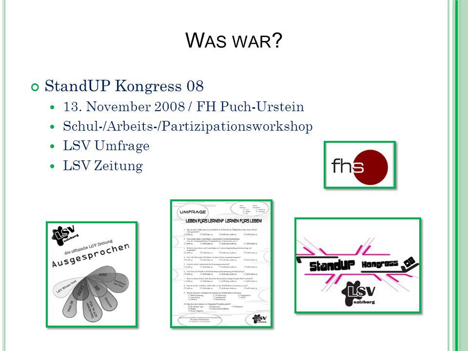 W AS WAR . StandUP Kongress 08 13.