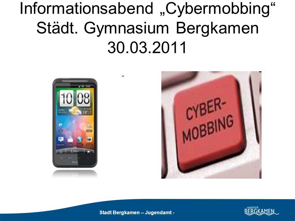 Stadt Bergkamen - Jugendamt - Stadt Bergkamen – Jugendamt - Problem: anonyme Online-Netzwerke