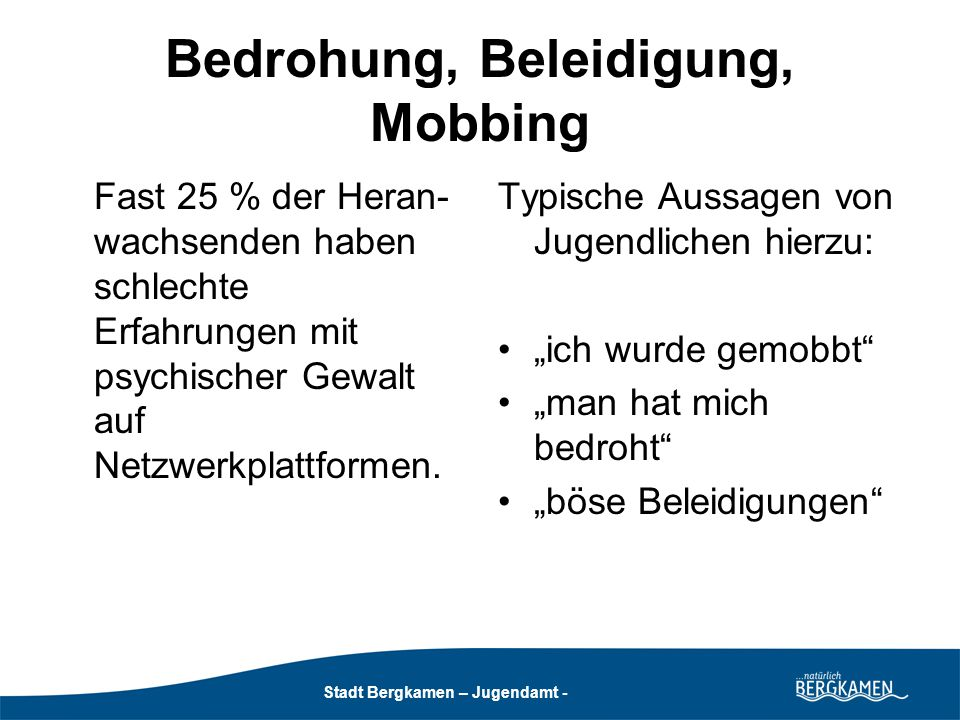 Stadt Bergkamen - Jugendamt -
