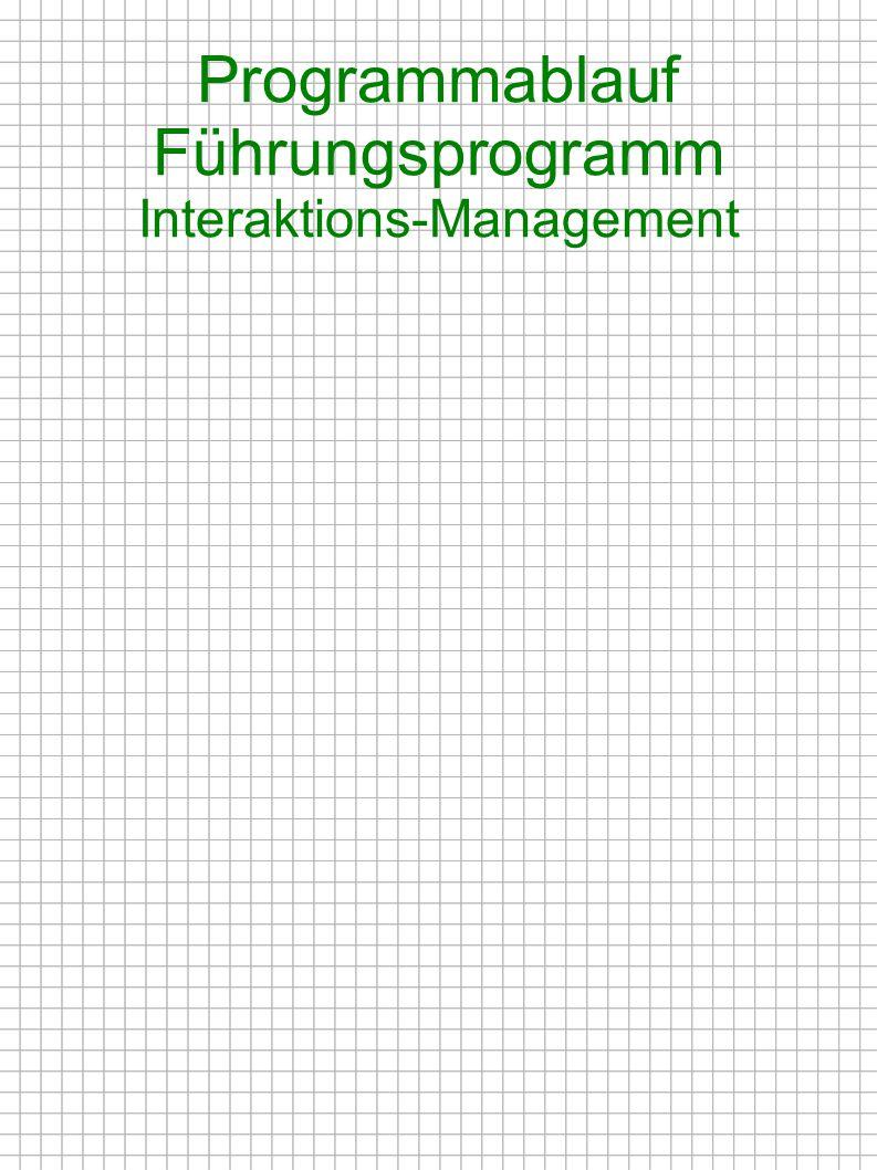 Programmablauf Führungsprogramm Interaktions-Management