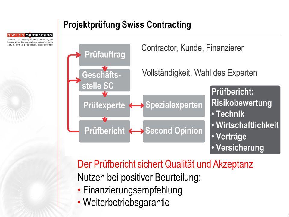 6 Die Dienstleistungen von Swiss Contracting www.swisscontracting.ch