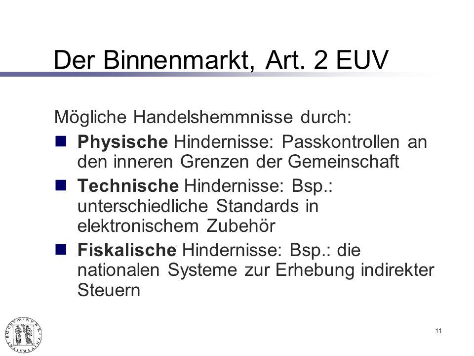 Der Binnenmarkt, Art.