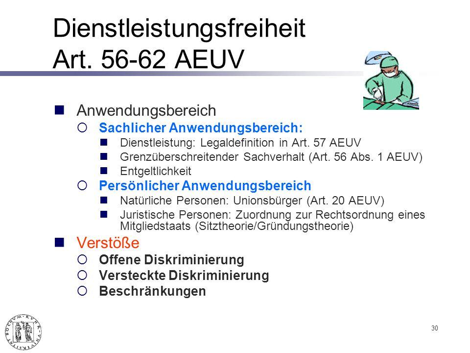 Dienstleistungsfreiheit Art.