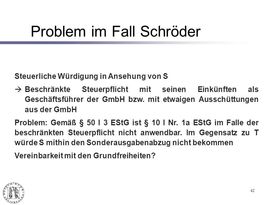 42 Steuerliche Würdigung in Ansehung von S Beschränkte Steuerpflicht mit seinen Einkünften als Geschäftsführer der GmbH bzw.
