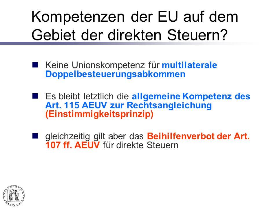 Schlussfolgerungen aus Lasteyrie du Saillant Wegzugsbesteuerung bewirkt eine Beschränkung der Niederlassungsfreiheit (Art.