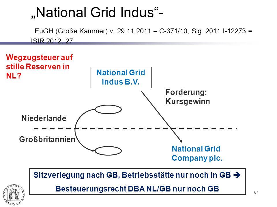 67 National Grid Indus- EuGH (Große Kammer) v.29.11.2011 – C-371/10, Slg.
